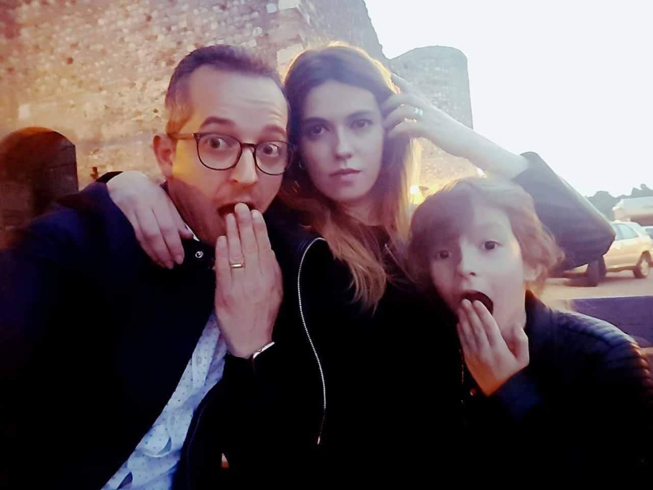 Magda împreună cu soțul și cu fiica ei