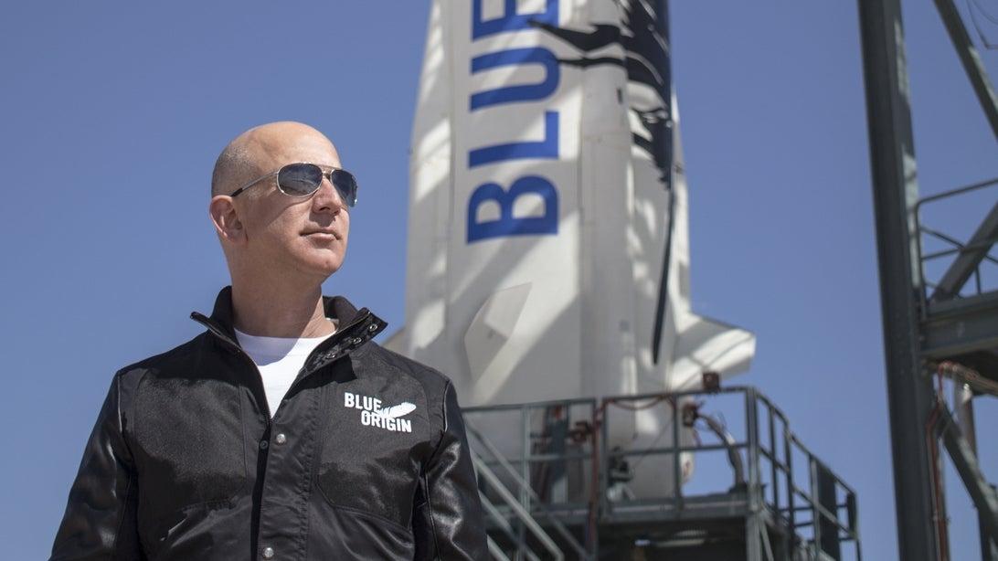 Jeff Bezos în spațiu